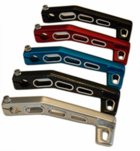 Kickstartpedaal 3-gaats Aerox Minarelli Horizontaal zilver aluminium DMP