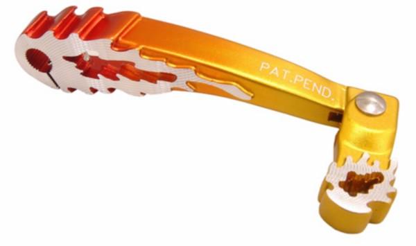 Kickstartpedaal model vlam Minarelli Horizontaal + verticaal oranje aluminium DMP