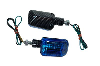 Knipperlichtset univ blauw/carbon DMP