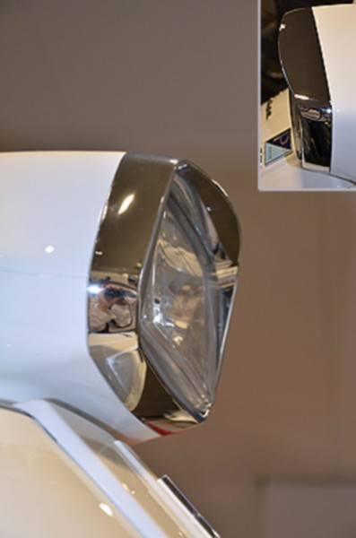 Headlight rim Plus shed Vespa S chrome