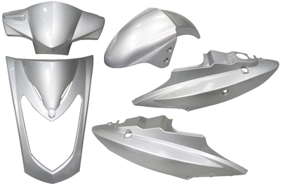 Plaatwerkset (2-zits) agility zilver DMP 5-delig