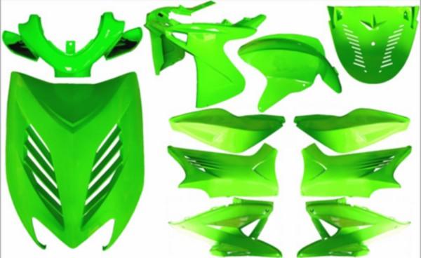 Plaatwerkset special aerox groen kawasaki DMP 11-delig