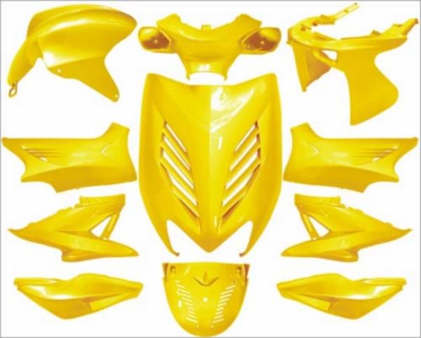 Plaatwerkset special geel DMP 11-delig yamaha aerox mbk nitro