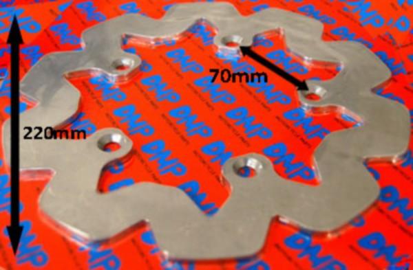 Remschijf wave rs1999 Yamaha TZR 220mm achter DMP