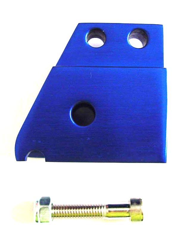 Schokbrekerverlenger model Tnt Minarelli Horizontaal + Verticaal scooter blauw aluminium DMP op=op