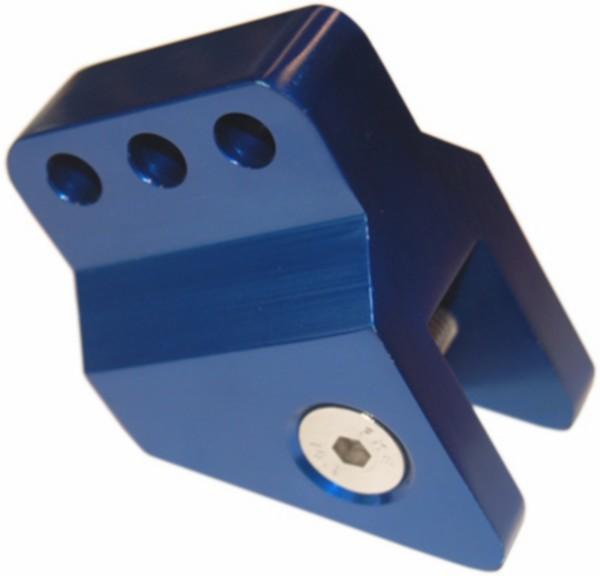 Schokbrekerverlenger verstelbaar Peugeot blauw aluminium DMP
