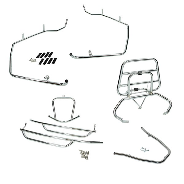 Protection bumper set Sym Fiddle chrome DMP 4-parts