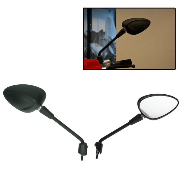 Mirror set long matt black front Vespa Vespa Sprint model original Vespa