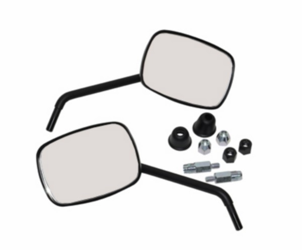 Mirror set model original Vespa S black matt DMP