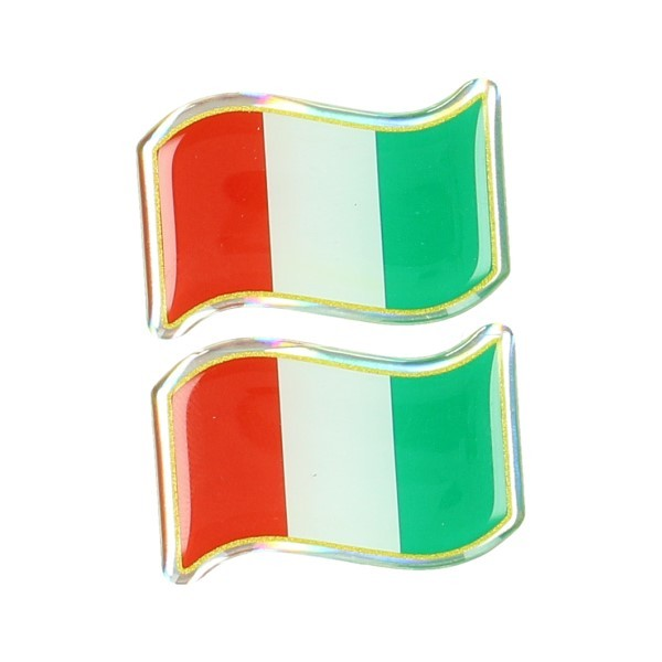 Sticker universal flag Italy wave set 3d