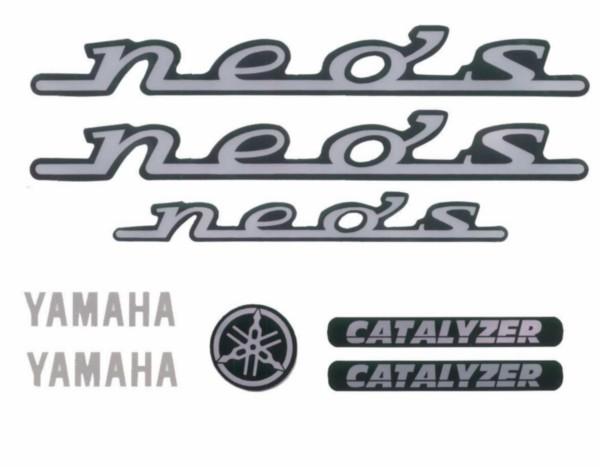 Stickerset Yamaha Neo's zwart 7-delig