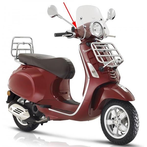 Stuurkap Vespa Primavera touring rood metallic 880 a boven Piaggio origineel 67364600yr5