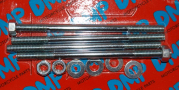 Tapeind Cilinder + moer fs1 Puch Maxi min vert puch m6x107mm DMP 4pcs