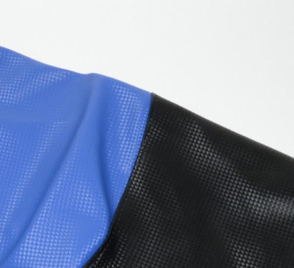 Zadelhoes Peugeot Vivacity zwart blauw carbon