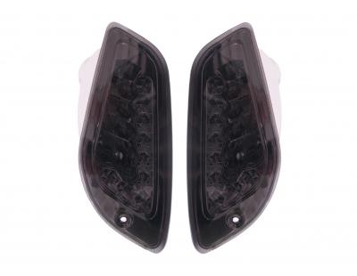 Knipperlicht set zwart Vespa LX Led