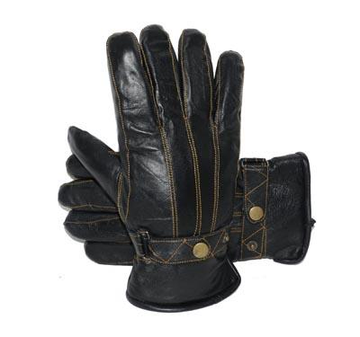 kleding handschoen set leer heren S/ M zwart EB maat 9.0