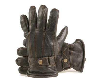 kleding handschoenset leer heren M/ L bruin EB maat 9.5