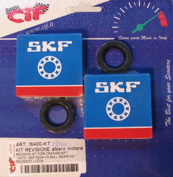 Krukaslager/Keerringset Cif Ludix 6204-C4 Skf