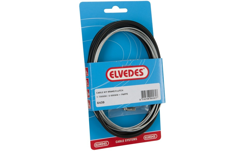 Elvedes cable clutch / brake cable) extra flexible 1800 / 2250mm V-nippel - 2 meter