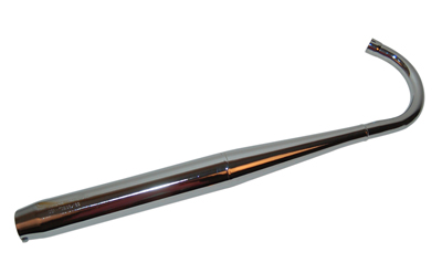 Uitlaat compleet fluister univ 32/32mm chroom