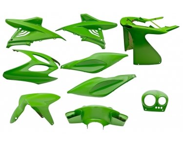 plaatwerkset yamaha aerox 9-delig kawasaki-groen