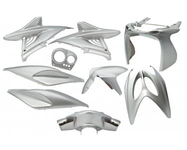 plaatwerkset / kappenset yamaha aerox 9-delig grijs-metallic / zilver