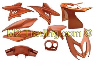 Scherm/Plaatset Yamaha Aerox 9Dlg Flip Flop Orange