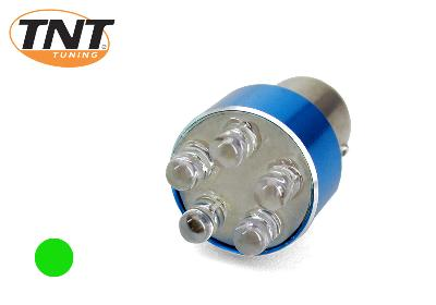 Light bulbs 12V Ba15S Bleu 5 Leds Groen Tnt