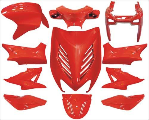 Plaatwerkset special aerox rood DMP 11-delig