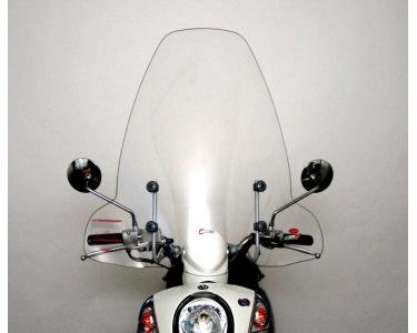 windscherm faco sym mio 50-100cc inclusief bevestigingsmaterialen