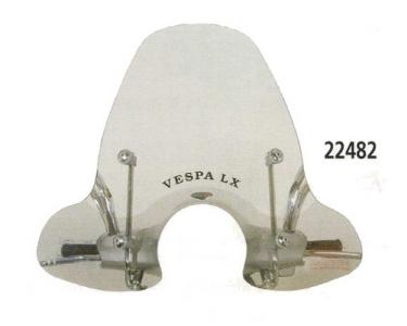 windscherm faco vespa lx 50-125-150 inclusief bevestigingsmaterialen