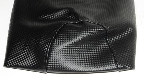 zadel/buddy overtrek Yamaha Aerox Zwart/Carbon