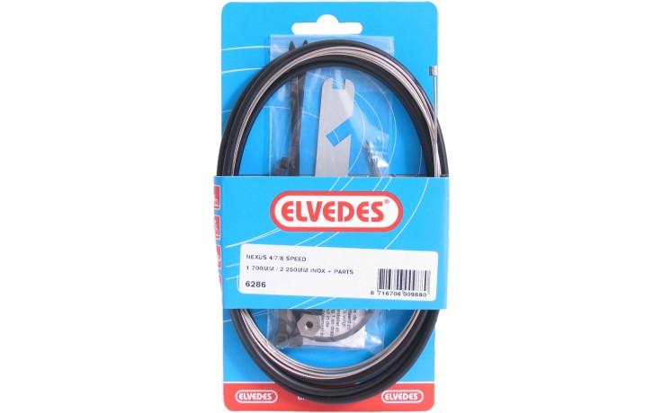 Elvedes Versnellingskabelset Nexus 4/7/8 1700 / 2250 mm RVS - zwart