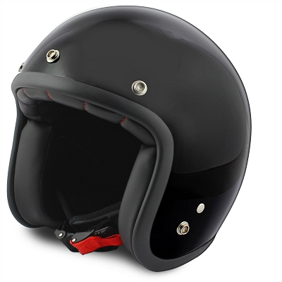 Jet Helmet no-end shine black size L