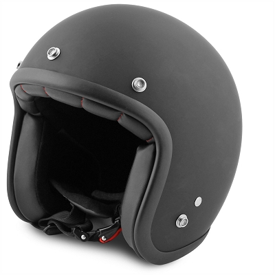 Jet Helmet no-end matt black size L