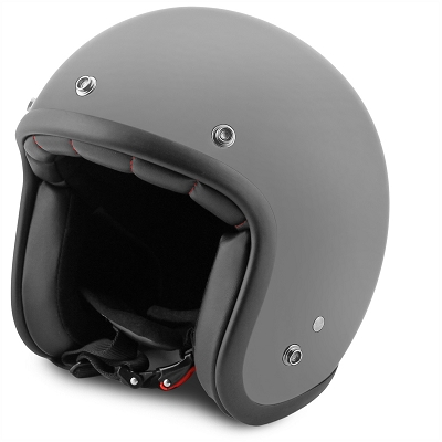 Jet Helmet no-end matt grey size M