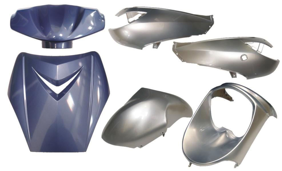 Plaatwerkset viva sportline blauw/zilver DMP 6-delig