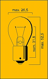 Light bulbs 12V-21W Ba15S Flosser E-Keur