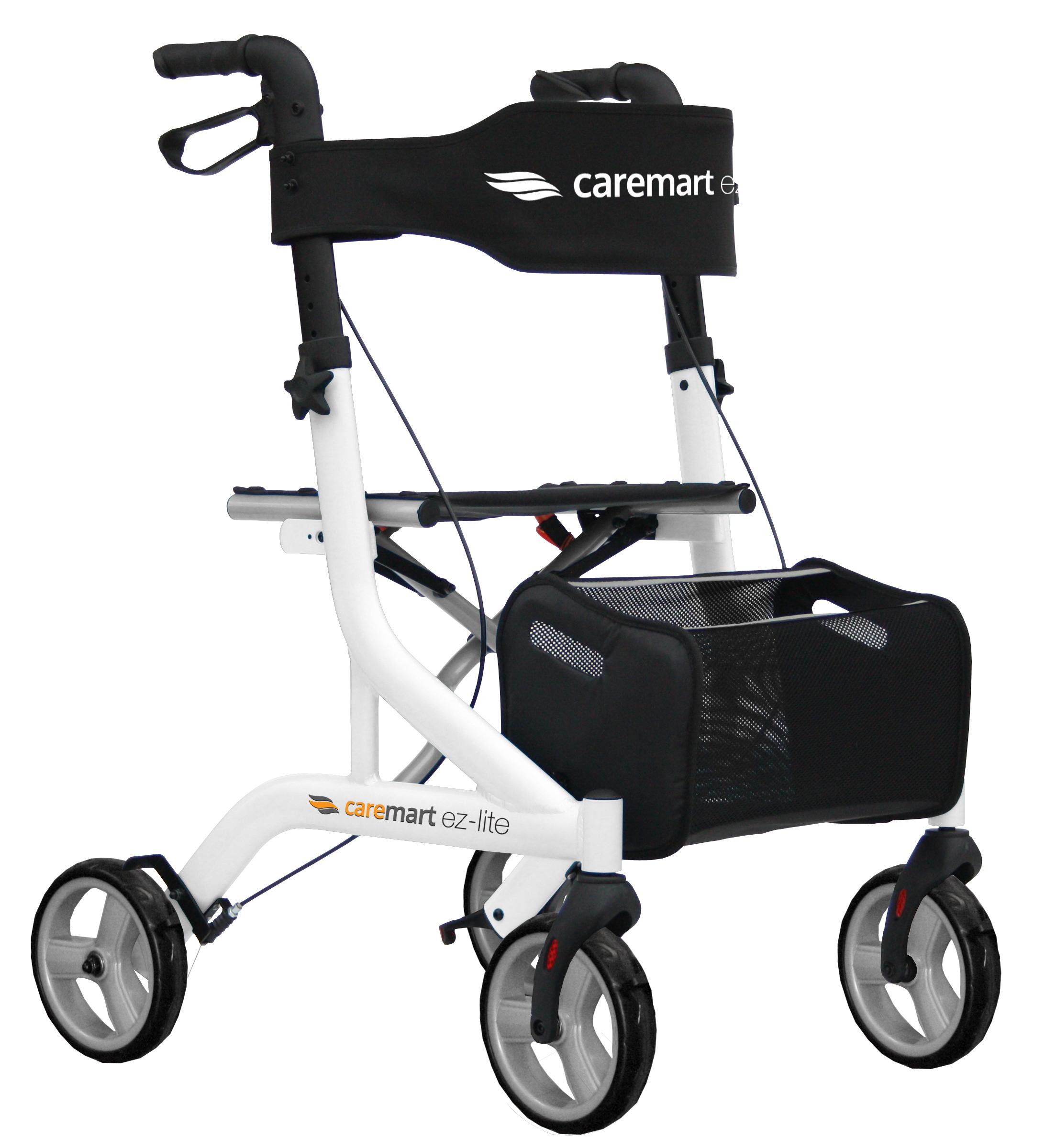 Rollator Caremart EZ-Lite Salt White