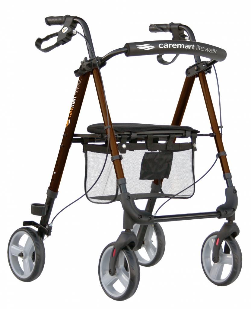 Rollator Lichtgewicht Litewalk Macadamia Brown Caremart