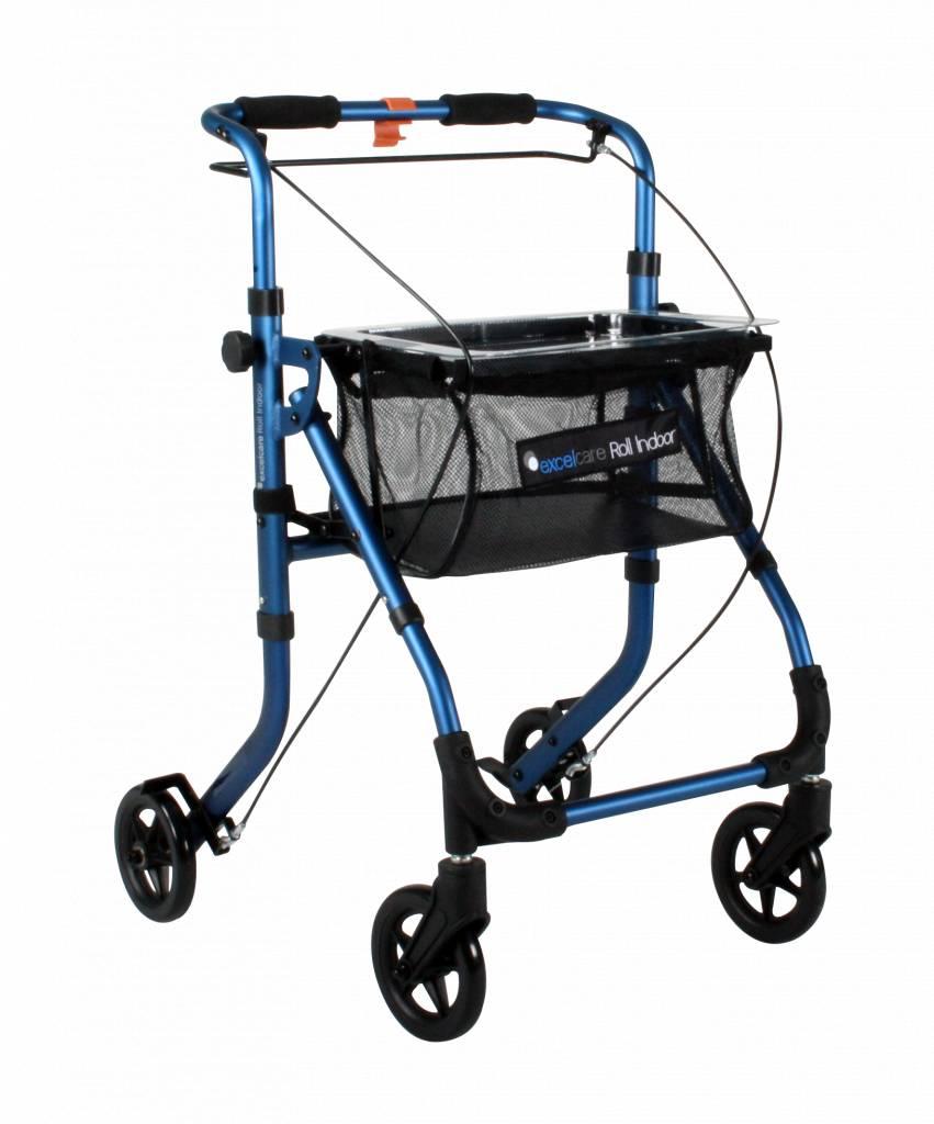 Rollator ExcelCare Roll Indoor blauw