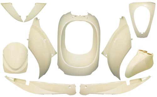 Plaatwerkset mio wit ivoor DMP 10-delig
