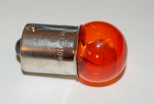 Lamp 12V-10W BAU15 Oranje E-Keur