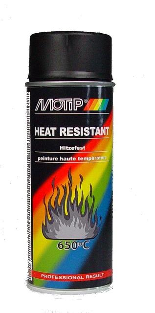 Motip Hittebestendige Lak Zwart 650C 400Ml