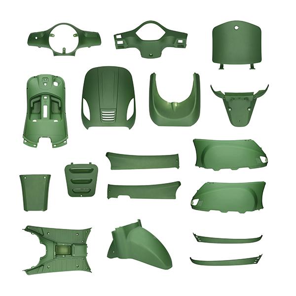 Kappenset China LX mat leger groen Riva Napoli Roma 17-delig
