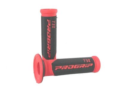 Handvatset Progrip rood/zwart 732 scooter