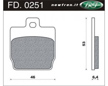 Remblokken Yamaha Aerox FD 0251