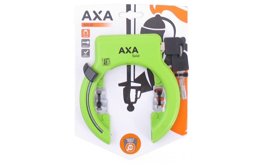 Ringslot Axa Solid groen Spartamet fiets
