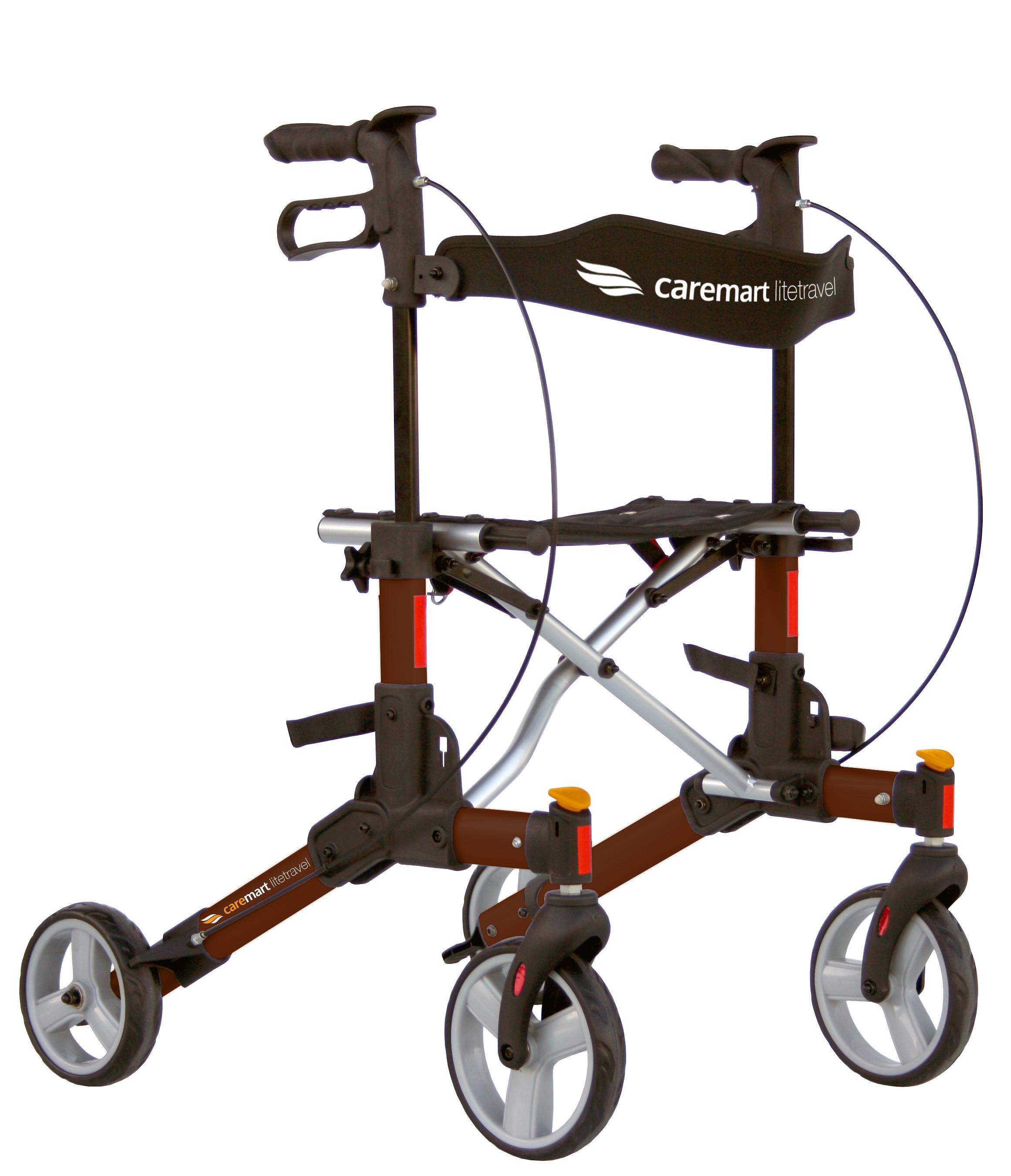 Rollator Caremart Litetravel Macademia Brown