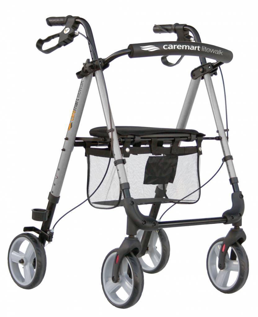Rollator Lichtgewicht Caremart Litewalk silk Silver